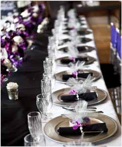 Black & Silver Table Setting wdm